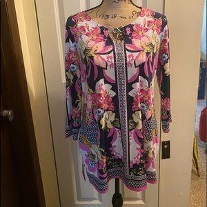JM Collection Botanic Magnoli blouse